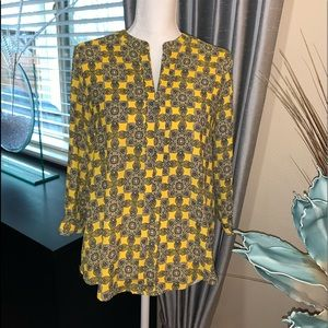 Dana Buchman yellow blouse